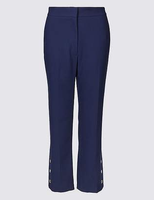 Marks and Spencer Button Detail Ankle Grazer Straight Trousers