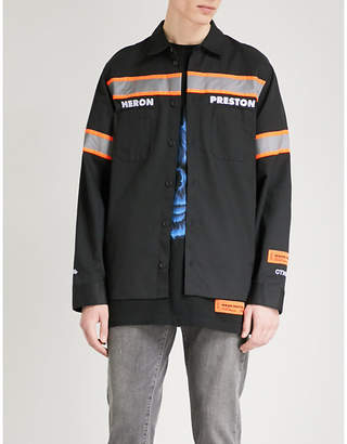 HERON PRESTON Metallic-trims regular-fit twill shirt