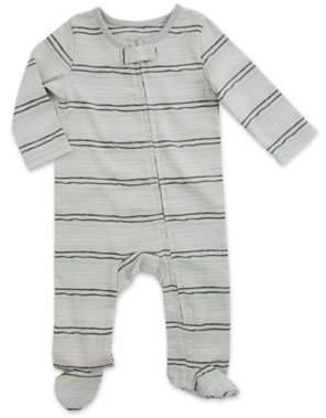 aden® by aden + anais® Funky Stripe Footie in Grey