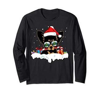Santa Candy Cane Chihuahua Christmas Xmas Long Sleeve