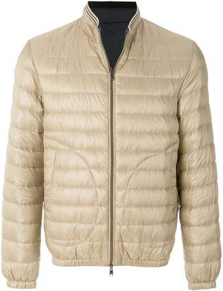 Herno feather down zip front padded jacket