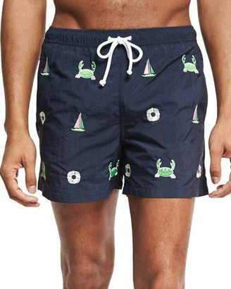 Thom Browne Emerald Icon Swim Trunks $410 thestylecure.com
