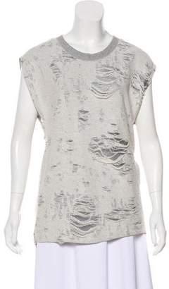 IRO Sleeveless Distressed Sweatshirt