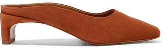 BY FAR - Maria Suede Mules - Tan