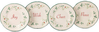Pfaltzgraff Winterberry Collection Stoneware Appetizer Plates, Set of 4