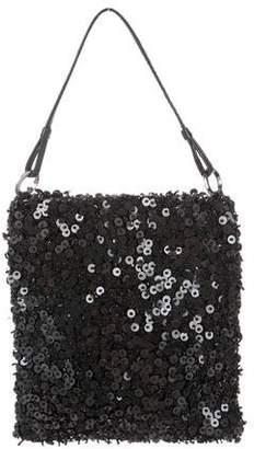 Tanner Krolle Leather-Trimmed Sequin Bag