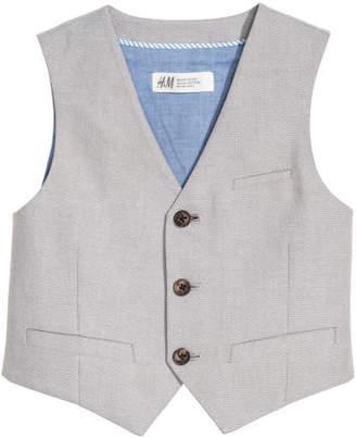 H&M Cotton Suit Vest - Gray