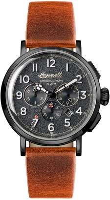 Ingersoll WATCHES St. John Chronograph Leather Strap Watch, 44mm