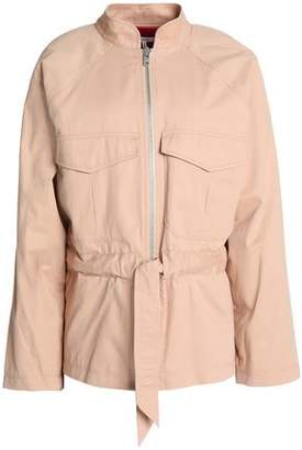 Ganni Belted Cotton Jacket