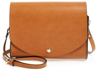 Cesca Faux Leather Crossbody Bag - Brown $36 thestylecure.com