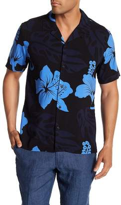 Toscano Short Sleeve Tropical Print Woven Shirt