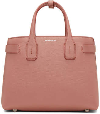 Burberry Pink Small Banner Structured Tote