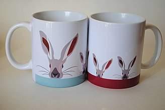 little love art - Christian Dakin Brown Hampshire Hare Mug
