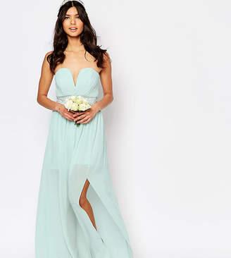 TFNC WEDDING Pleated Embellished Waist Maxi Dress