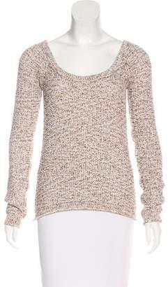 Torn By Ronny Kobo Bouclé Scoop Neck Sweater