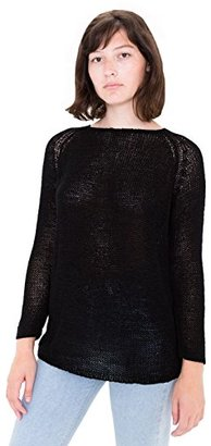 American Apparel Women's Delphine Tunic Open Knit Stitch Sweater $23.99 thestylecure.com