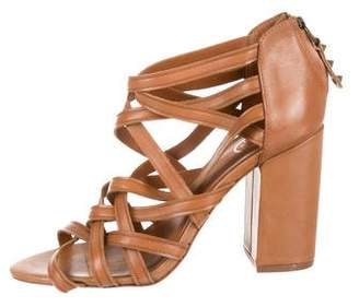Ash Leather Cage Sandals