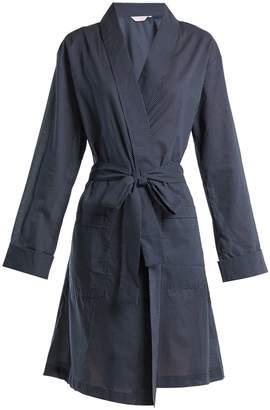 Derek Rose Plaza 21 polka dot cotton kimono