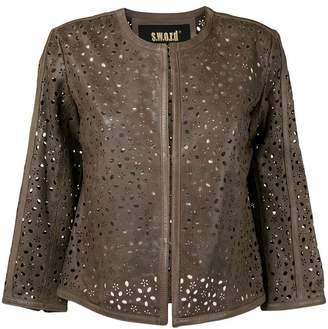 S.W.O.R.D 6.6.44 cropped laser cut jacket