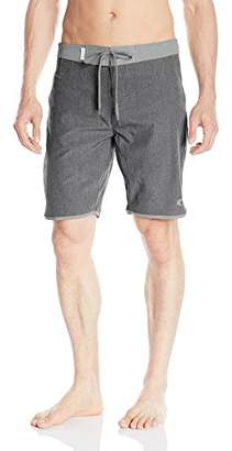 Teal Cove Men's Dylan Chambray Scalloped Short