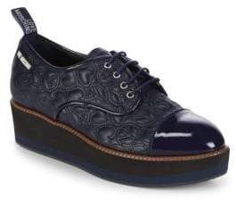 Love Moschino Quilted Leather Platform Derbys