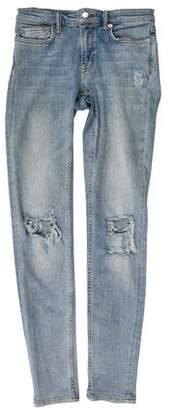 AllSaints Distressed Mid-Rise Jeans
