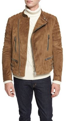 TOM FORD Café Quilted Suede Biker Jacket $4,990 thestylecure.com