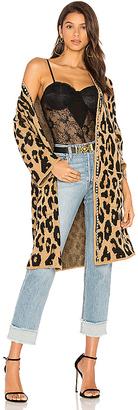 Joe's Jeans Lauren Long Cardigan in Brown $325 thestylecure.com