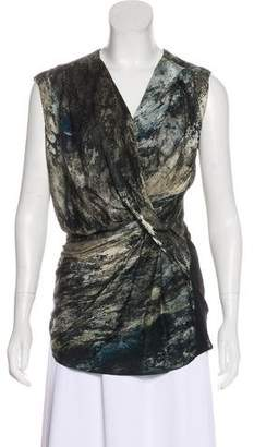 Helmut Lang Silk Drape Dress