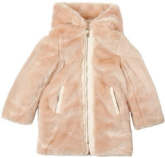 Chloé Reversible Hooded Faux Fur & Nylon Coat