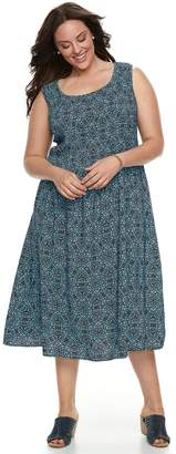 Croft & Barrow Plus Size Smocked Tank Dress