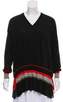 Givenchy Wool Drop Waist Sweater