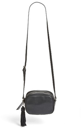 Phase 3 Tassel Faux Leather Crossbody - Black $55 thestylecure.com