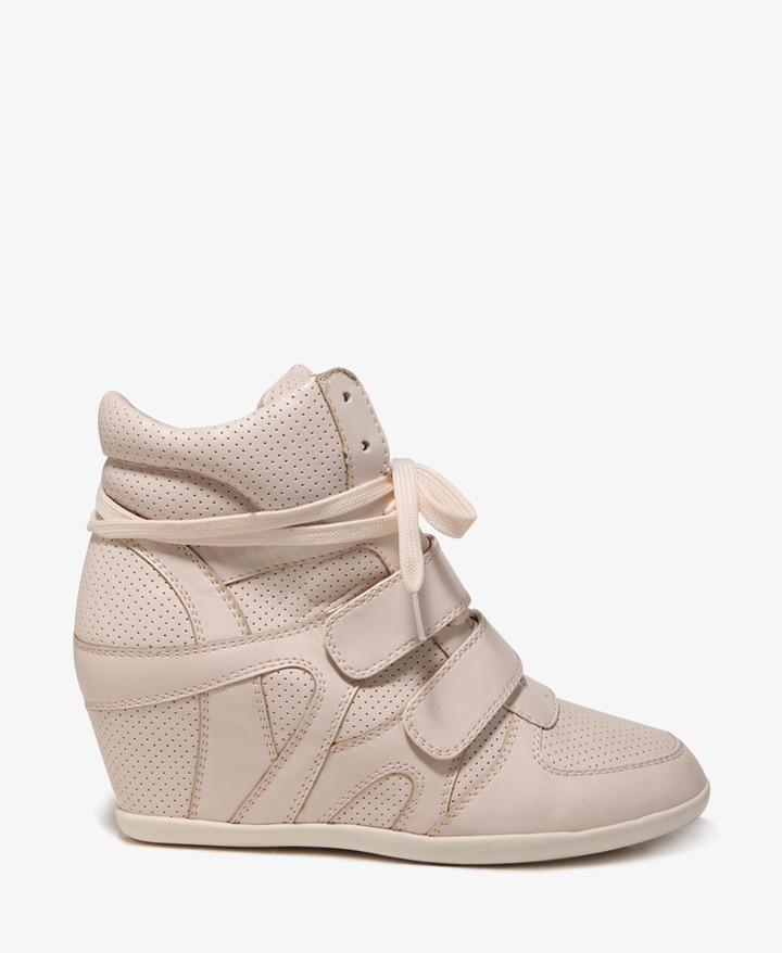 Forever 21 Street-Chic Perforated Wedge Sneakers