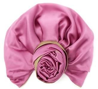 Julia Clancey - Edith Reversible Silk Turban Hat - Womens - Green