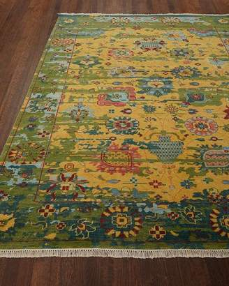 Eden Hand-Knotted Wool Rug, 6' x 9'