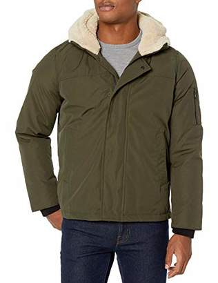 Izod Men's Ultra Warm Hipster Jacket with Sherpa Trim