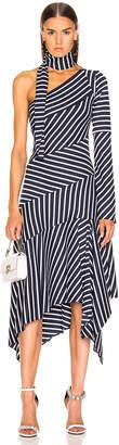 Monse Striped Chevron Jersey Dress