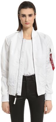 Slim Fit Nylon Bomber Jacket $179 thestylecure.com