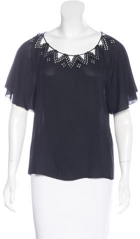 3.1 Phillip Lim 3.1 Phillip Lim Silk Eyelet Lace Top