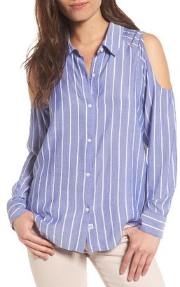 Women's Rails Sadie Cold Shoulder Shirt $148 thestylecure.com
