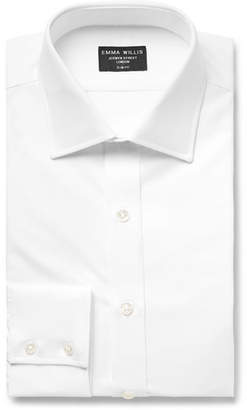White Slim-Fit Cotton Oxford Shirt