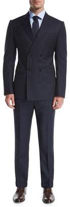 Armani Collezioni Wide-Stripe Double-Breasted Wool Two-Piece Suit $1,695 thestylecure.com