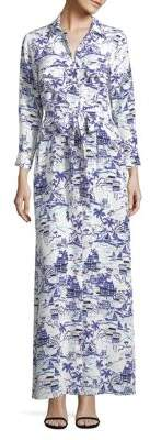 L'Agence Cameron Printed Silk Shirtdress