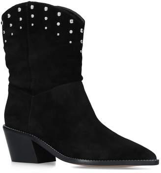 Carvela Suede Salt Western Calf Boots