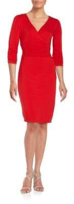 NUE by Shani V-Neck Sheath Dress