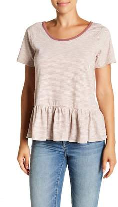 Lucky Brand Striped Peplum Top