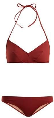 Three Graces London - Hanna Triangle Bikini - Womens - Burgundy