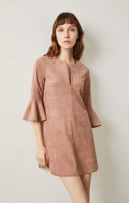 BCBGMAXAZRIA Catier Faux-Suede Dress