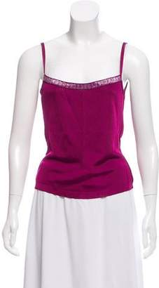 Herve Leger Sleeveless Square Neck Top